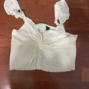 frilly crop top